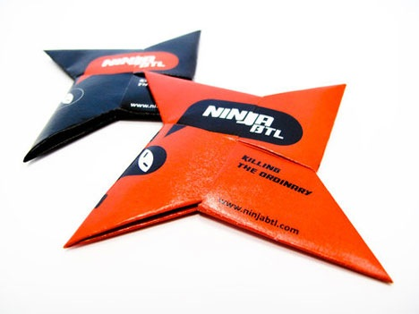 how to make a ninja star with sticky notes