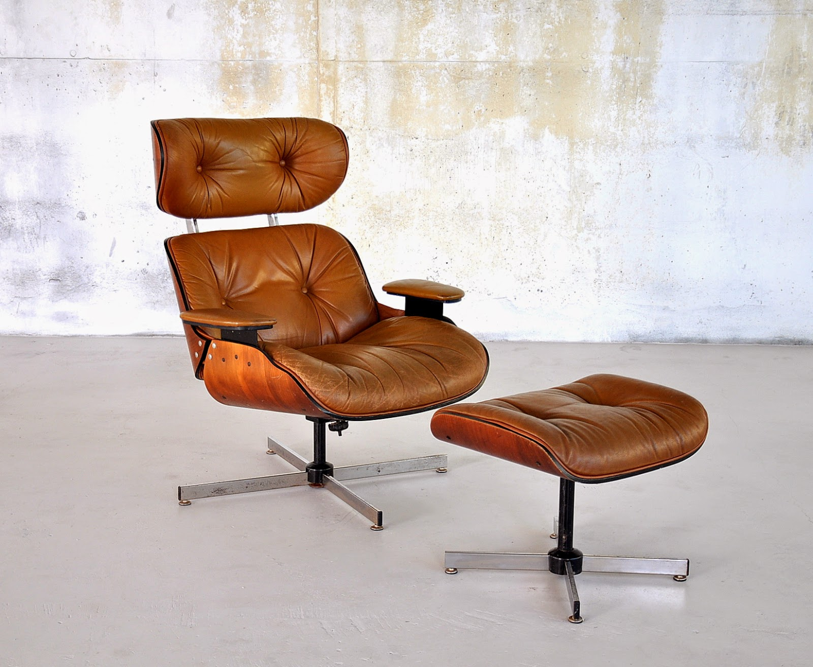 select modern eames leather lounge chair ottoman. Black Bedroom Furniture Sets. Home Design Ideas