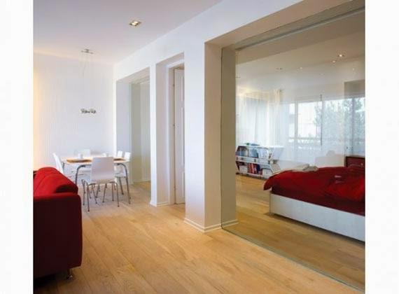 Casa de Diseño de Interiores Valiente Apartamento Rojo y Blanco