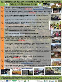 IV Semana de la Reserva Natural Garganta de los Infiernos