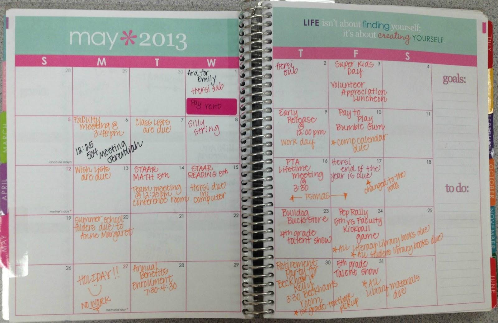 Calendar Planner Erin Condren : Erin condren life planner one fab teacher