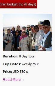 Iran Budget trip (8 days)