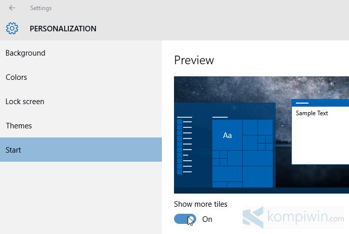 windows 10 cara menambah kolom tiles