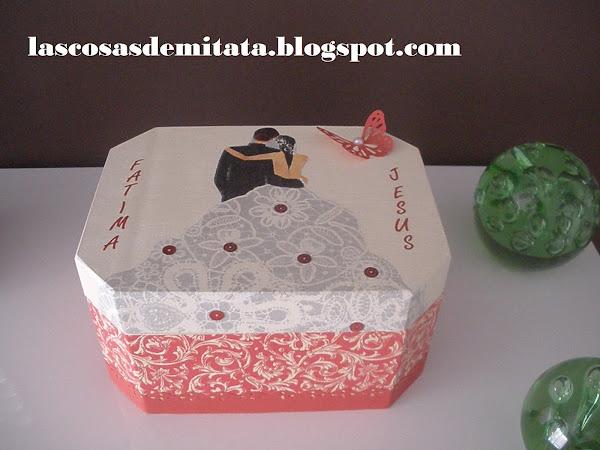 Caja decorada - Manualidades regalo boda ...
