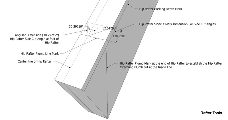 Roof Framing Geometry: Pyramid Hip Roof Rafters -- Equal & Unequal ...
