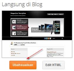 tombol ubahsesuaikan blogspot