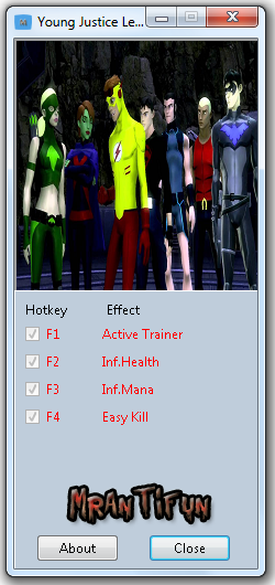 Young Justice Legacy Trainer +3 V1.0 MrAntiFun