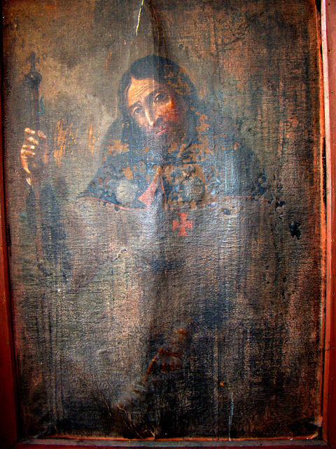 Obraz św. Rocha na skórze, XVIII wiek, Radoszyce. Fot. Tadeusz Czarnecki.