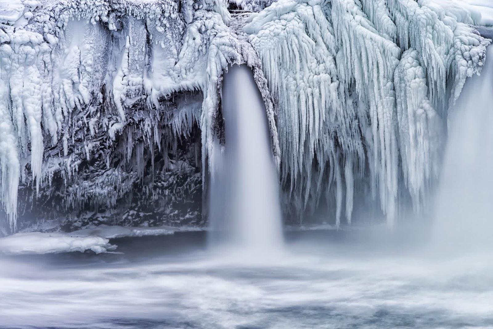 Frozen Waterfall, USA