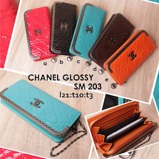 jual online dompet chanel branded cantik harga murah - glossy sm 023