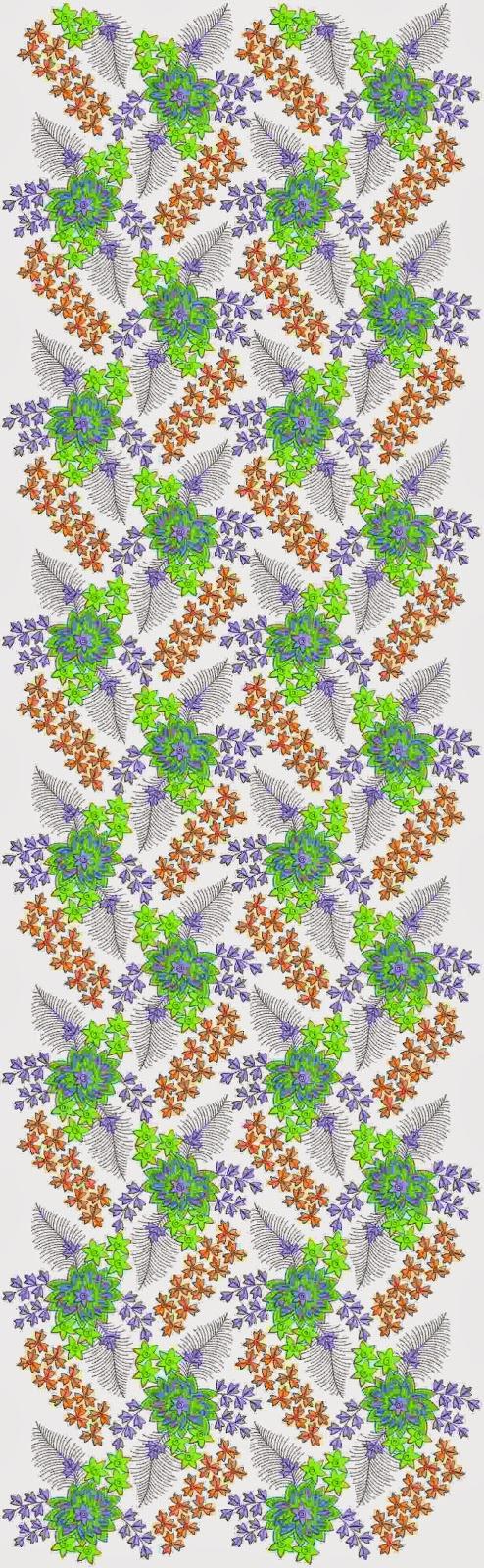 Indiese borduurwerk ontwerp Oral patroon