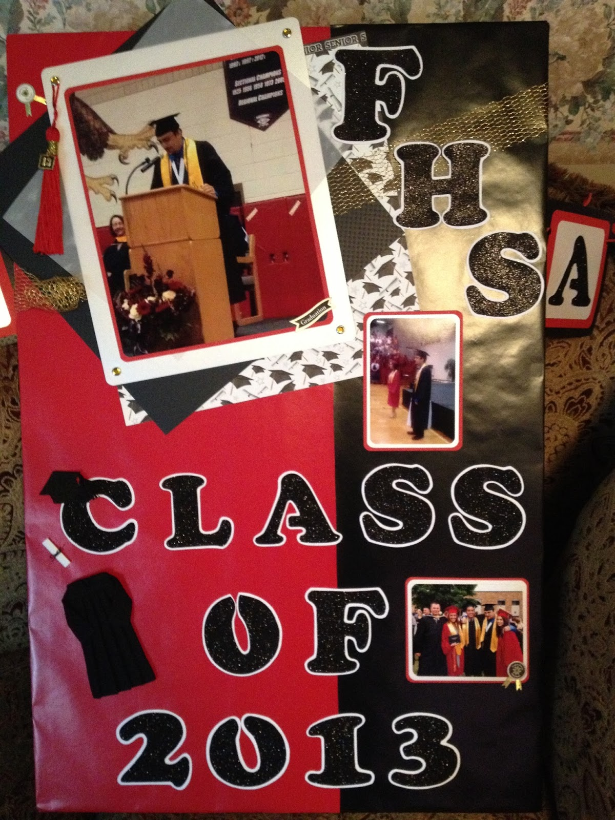 Scrapbook ideas high school - I Created A Shadow Box In A Scrapbook Page Style And Included His Graduation Tassel He Was Amazed And Appreciated Such A Beautiful Keepsake