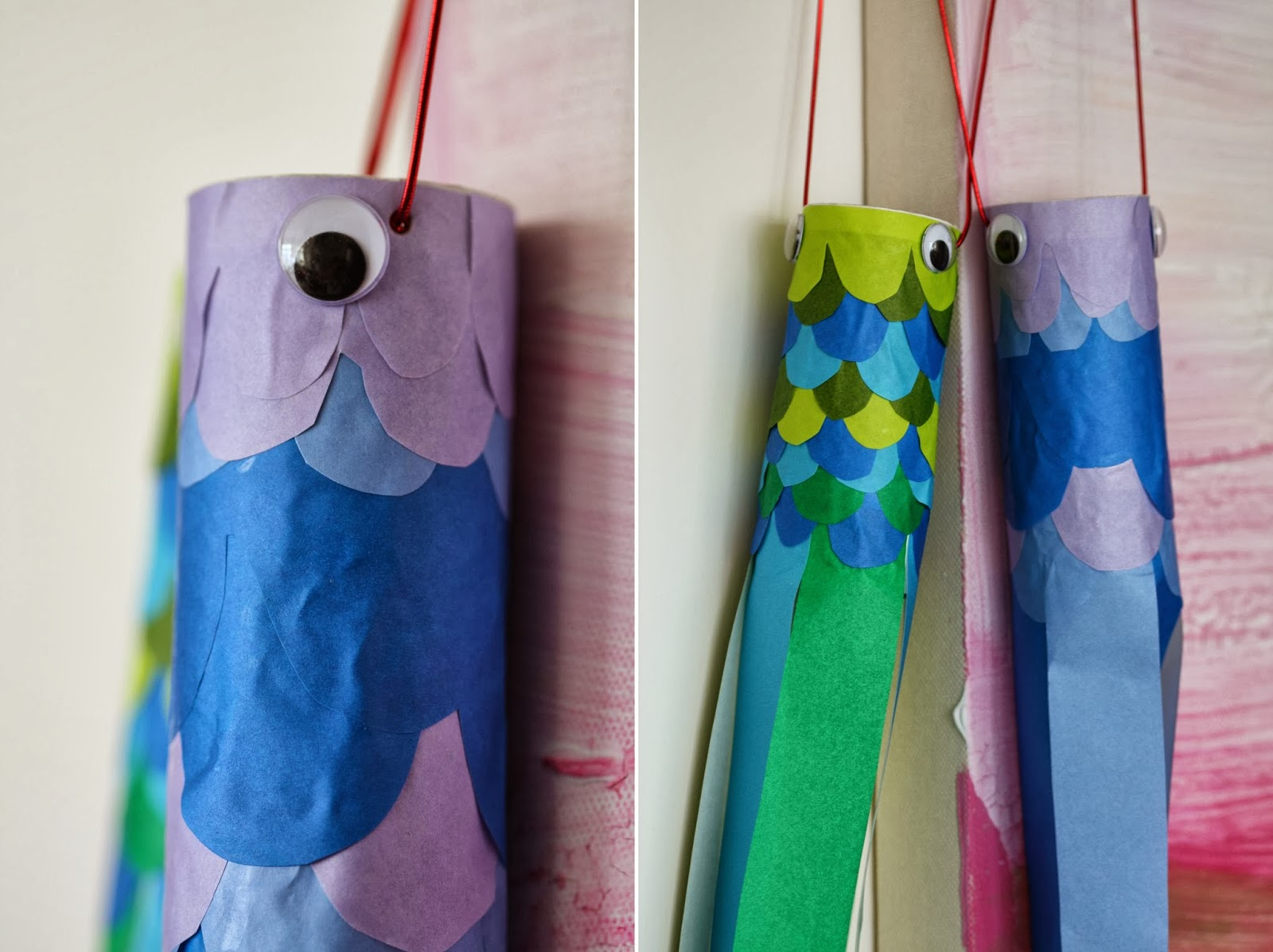 Zu hause at home diy make your own koinobori fish for Create your own fish