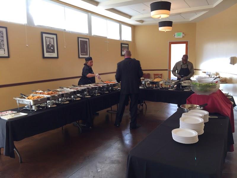 The buffet room at Souls Restaurant's Sunday dinner buffet in Oakland, CA