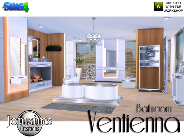 My sims 4 blog ventienna modern bathroom by jomsims for Bathroom ideas sims 4