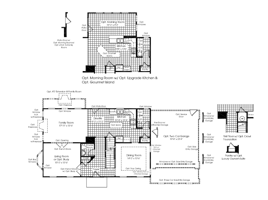 Ryan homes chandler model floor plan