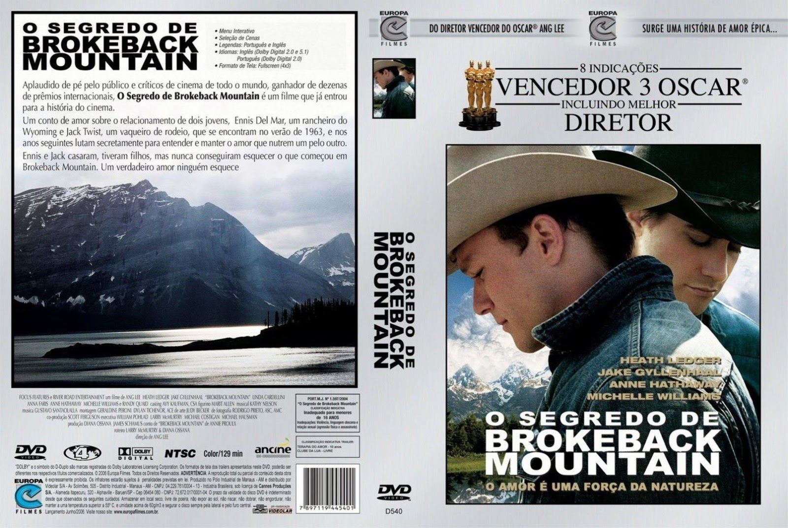 Capa DVD O Segredo De Brokeback Mountain