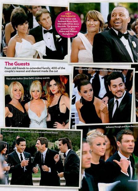 Os convidados do casamento de Kim Kardashian
