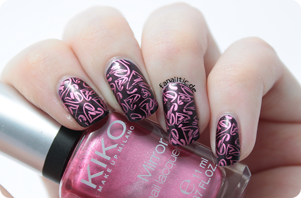 "ANNY ""private party"" + Kiko 619 stamping valentines nailart mit Cheeky CH15"