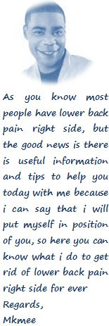 About Lower Back Pain Right Side Author