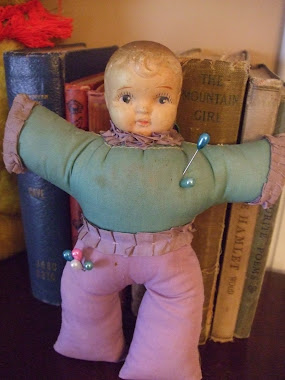 A Sweet Victorian Doll Pin Cushion!