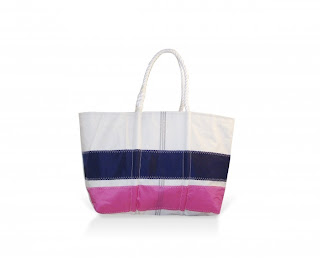 navy pink stripe large tote 2 Sea Bags: Custom House Wharf {Giveaway}