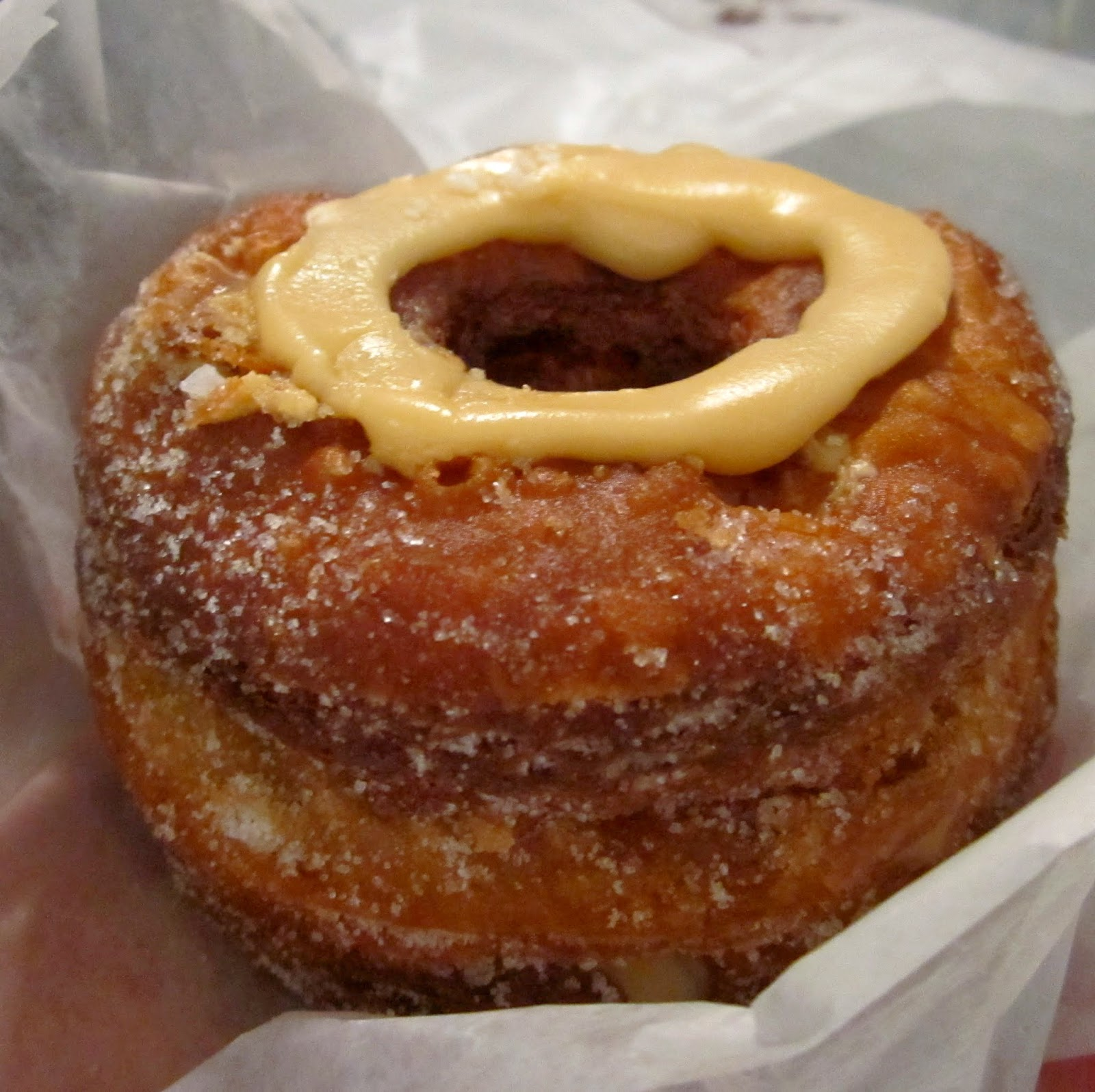 Dominique Ansel Bakery Dulce de Leche Cronut NYC New York City November 2014