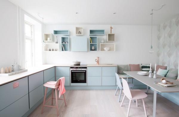 cozinha decorada cores claras, blog Achados de Decoração