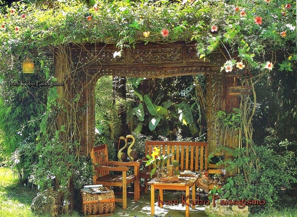 mesa jardim de inverno:Ivani Kubo Paisagismo: Jardim-de-Inverno