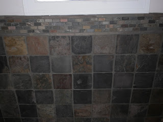 Grouted Wall Slate with Design