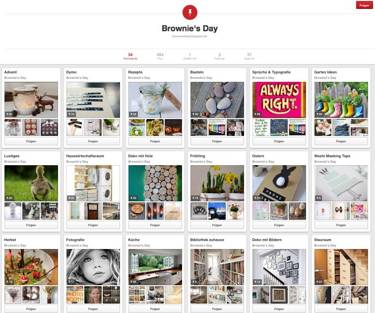 Brownie's Day ist jetzt auch bei Pinterest!