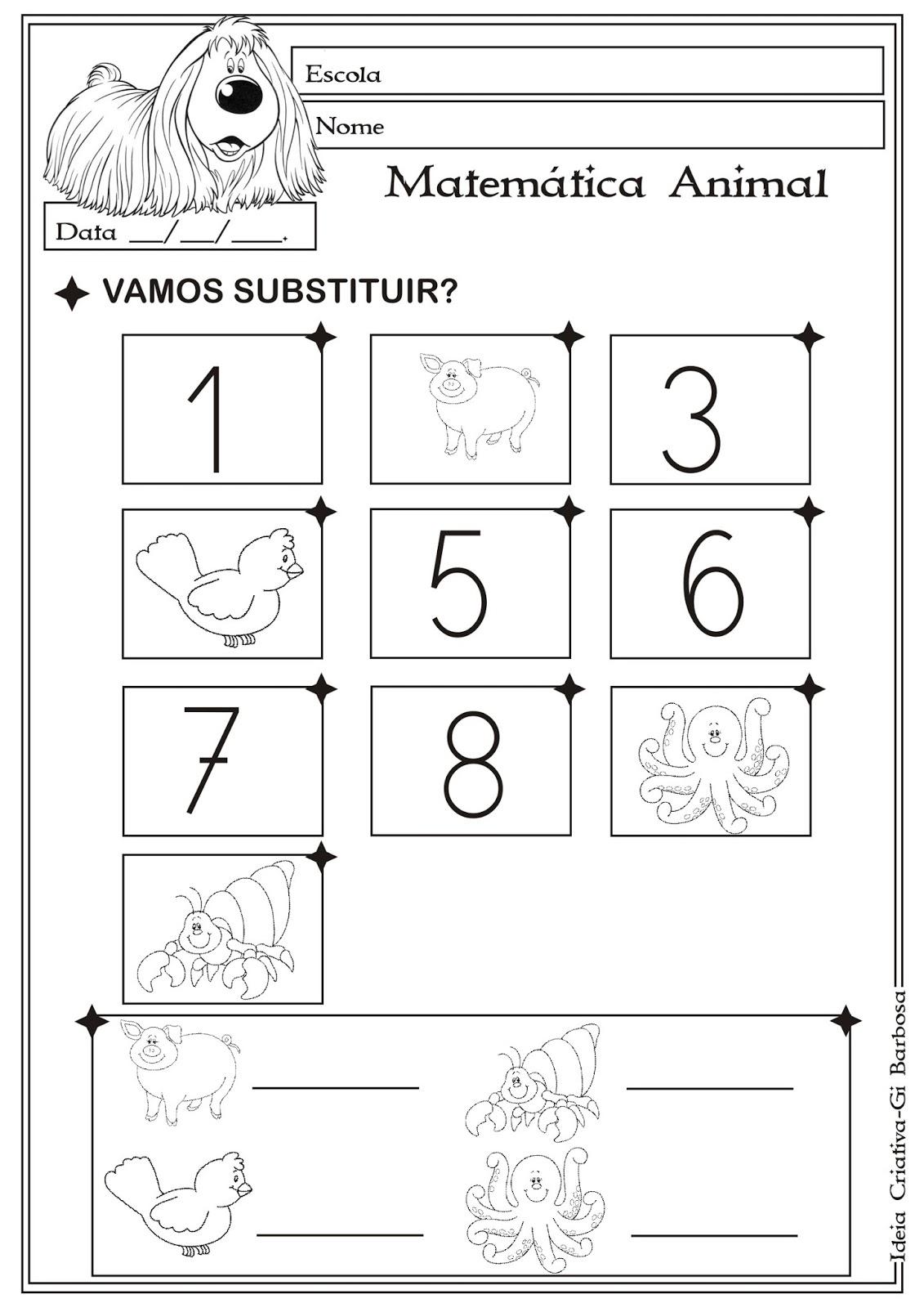 Favoritos Atividade Matemática Educação Infantil/ Projeto Animais | Ideia  FS62