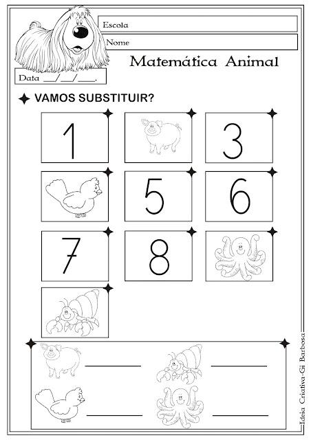 Atividade Matemática Educação Infantil/ Projeto Animais