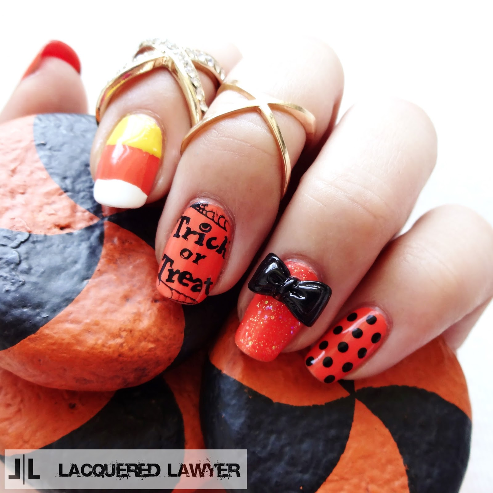 Trick-or-Treat Nail Art