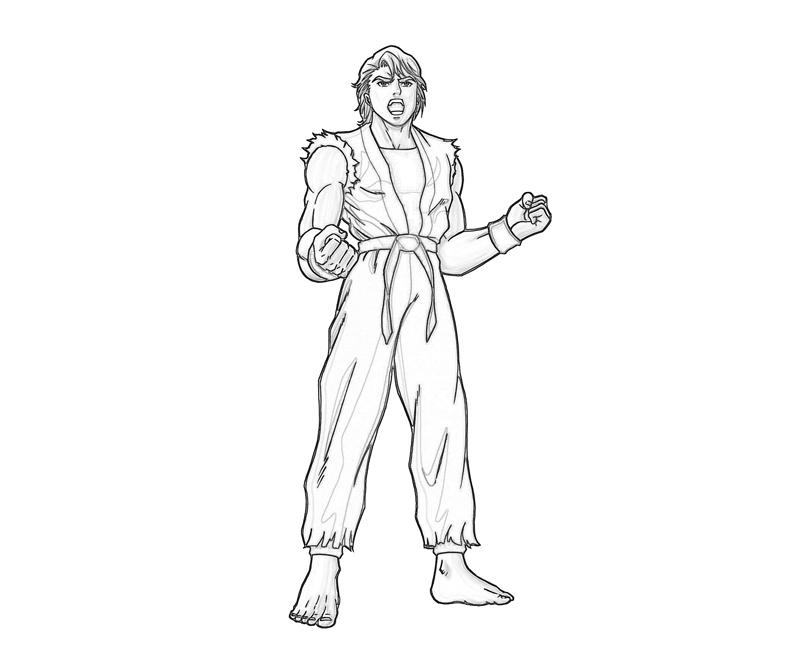 king-of-fighters-ryo-sakazaki-roar-coloring-pages