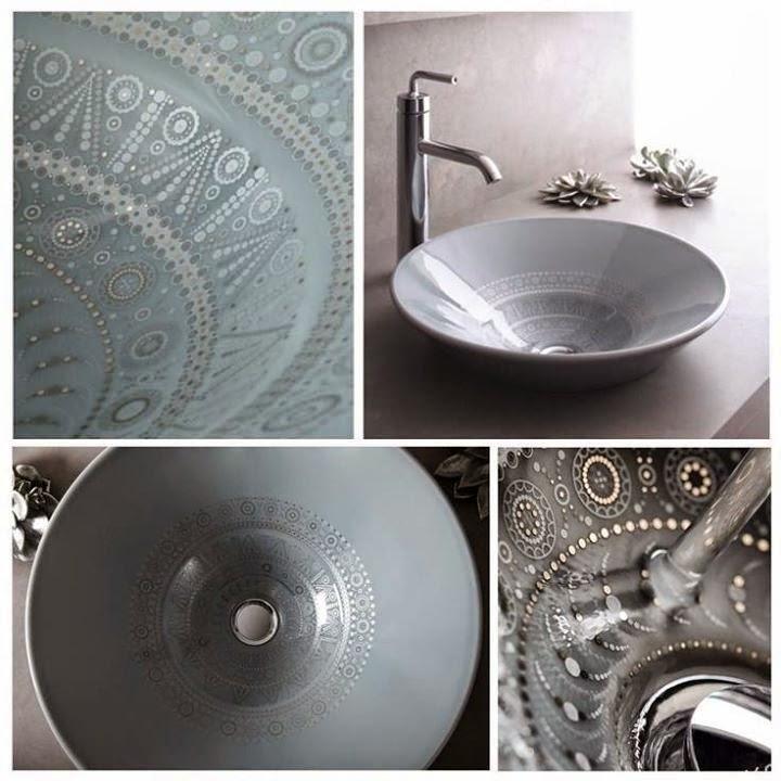 Ứng dụng quy tắc đồng nhất của hoa văn Henna vào mẫu bồn rửa tay nghệ thuật Conical Bell (Kohler)