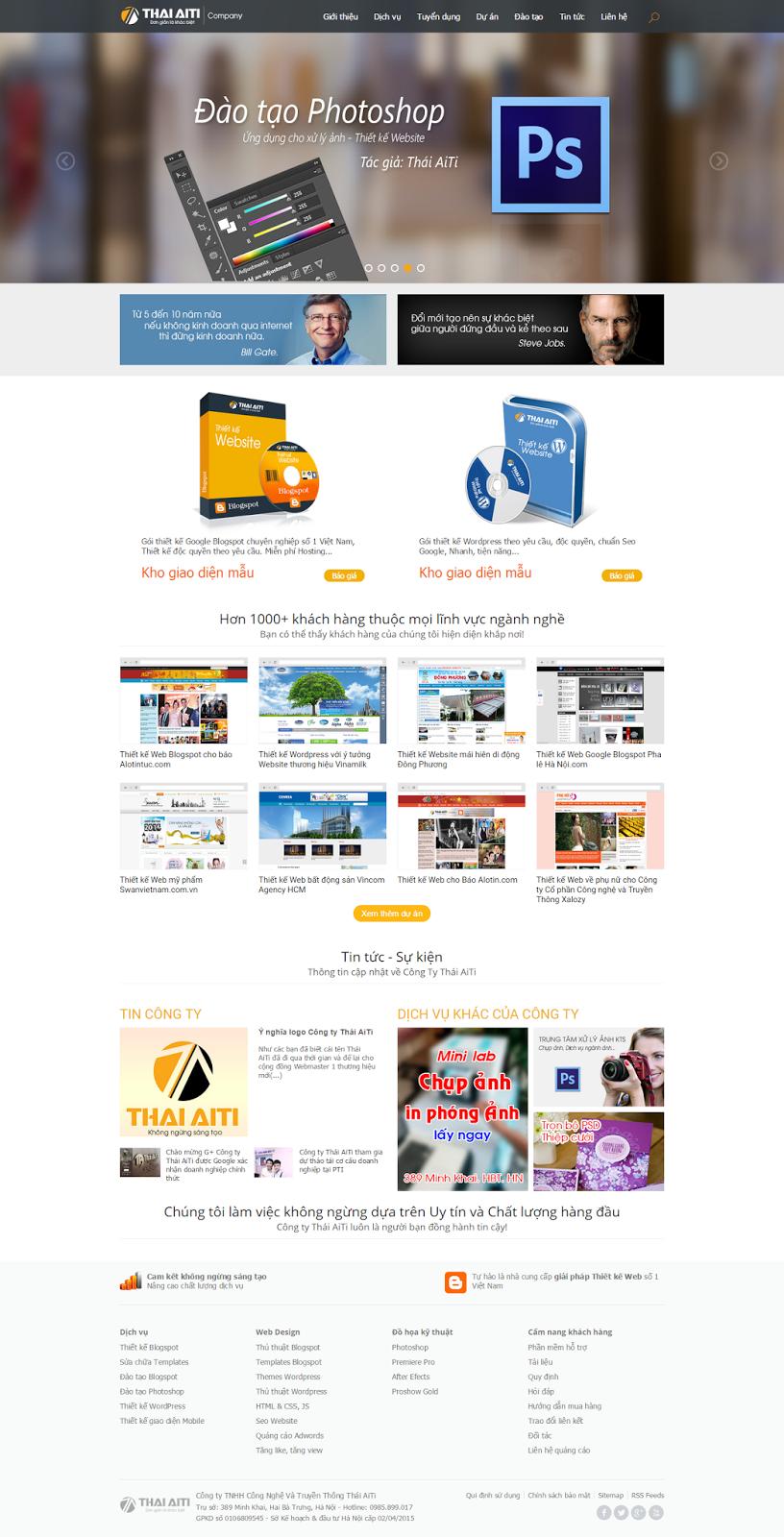 ThaiAiTi.com - 1 trang web độc đáo, thiết kế phong cách hiện đại
