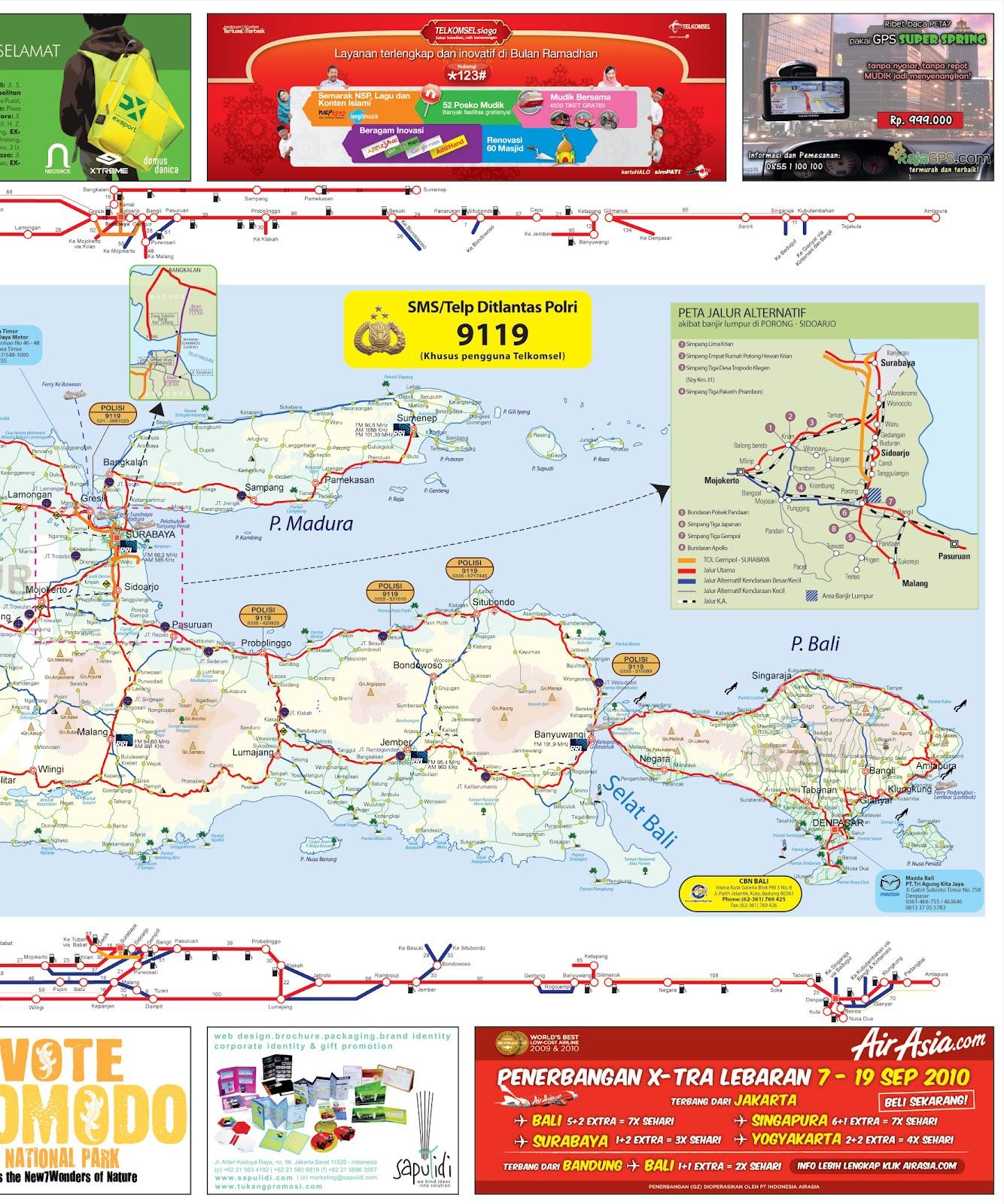 Peta Mudik Lebaran 2012