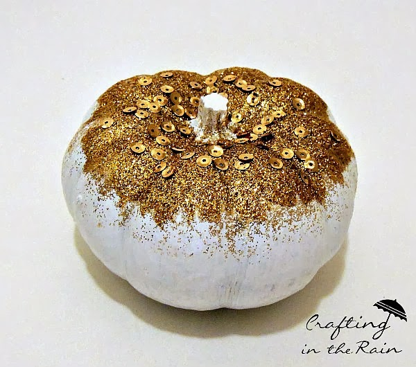 Gold Sparkle Pumpkin | Crafting in the Rain