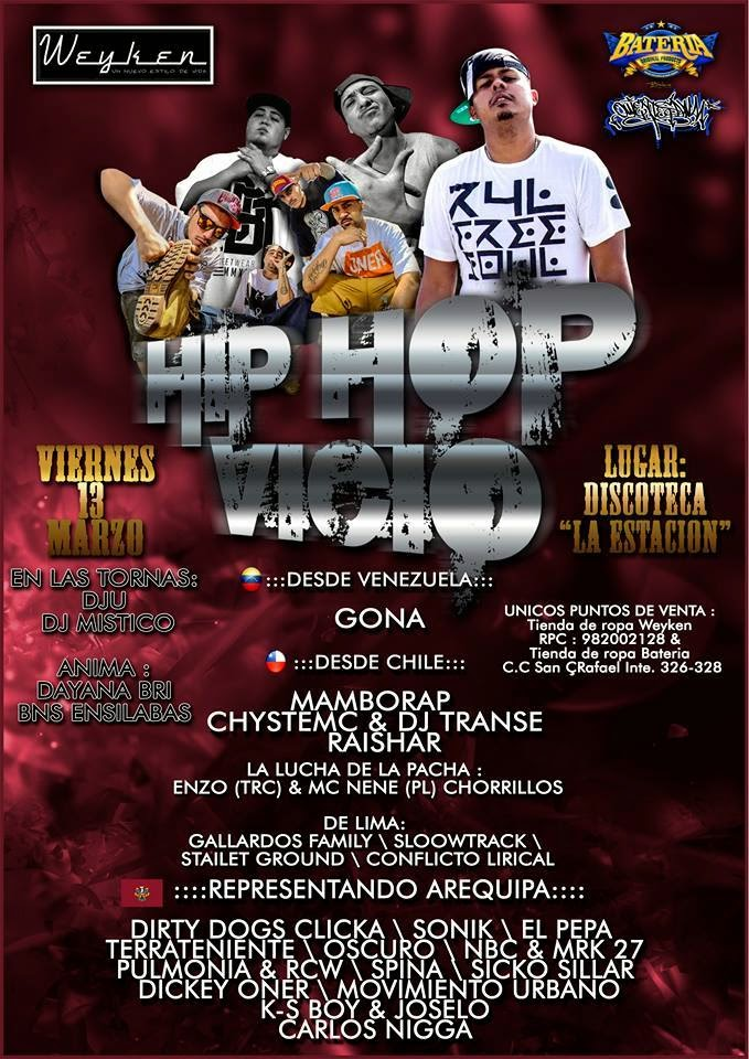 Hip Hop Vicio - 13 de marzo