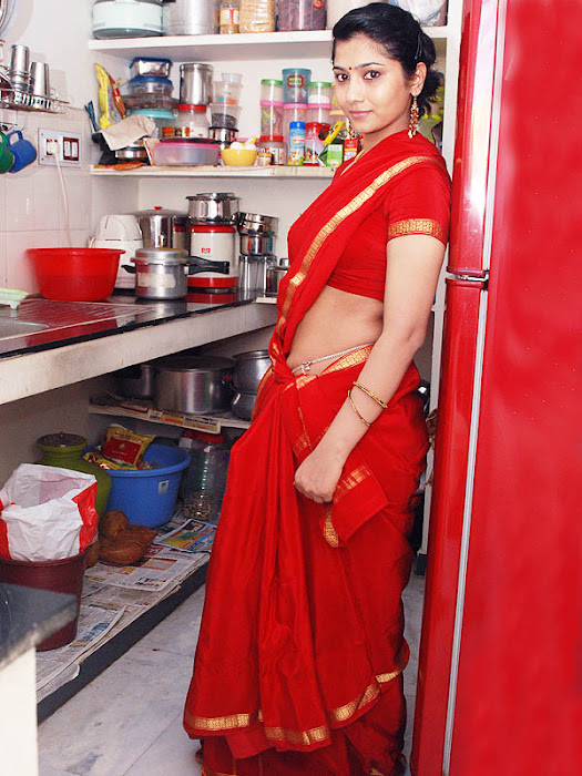 liya sree new red saree actress pics