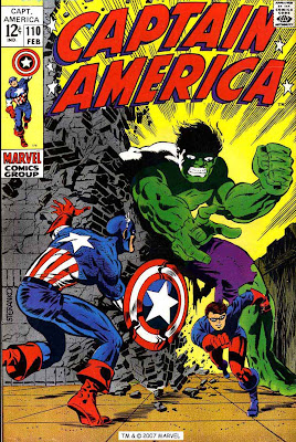 Captain America v1 #110 marvel comic book cover art by Jim Steranko