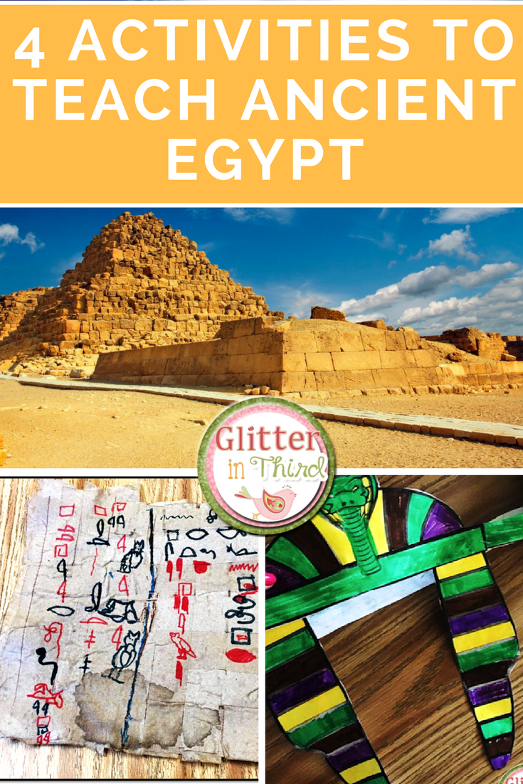 Glitter In Third Activities To Teach Ancient Egypt In The Classroom - Map of ancient egypt for students