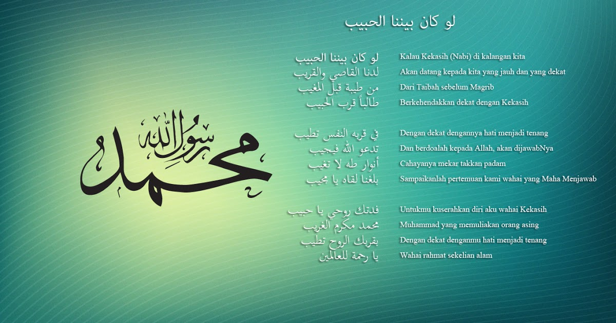 Kumpulan Teks Sholawat Nabi Yang Populer