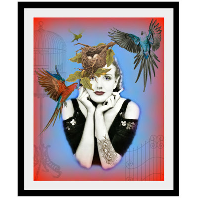 image artdecadence art print take flight birds nest on woman with tattoo