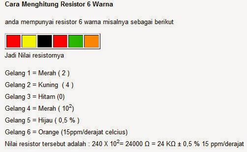 Cara Menghitung Nilai Warna Resistor Dengan Mudah