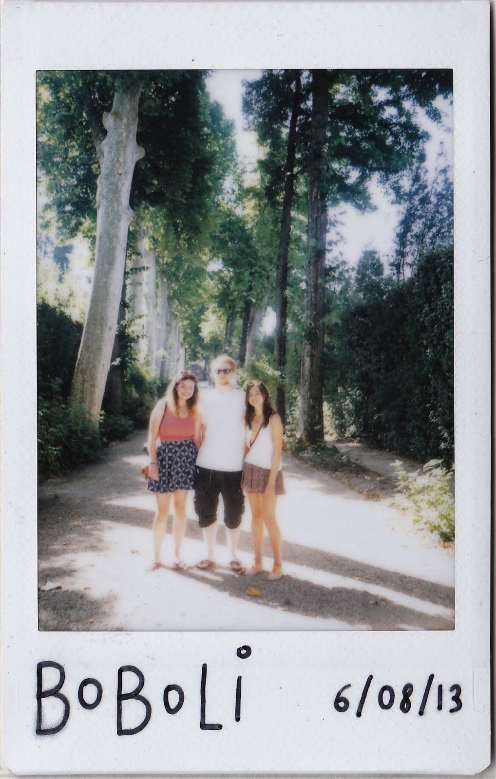 Polaroid of Boboli Gardens, Florence, Italy