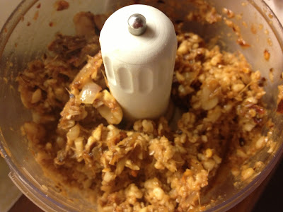 peanut sauce in mini chopper