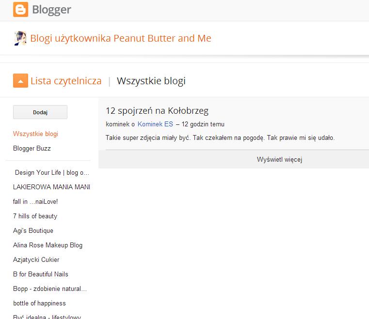 Problemy z listą czytelniczą blogger