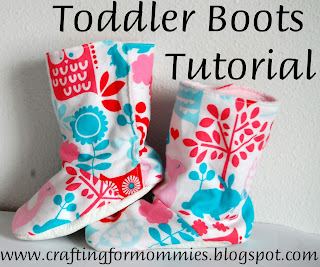 toddler boot tutorial